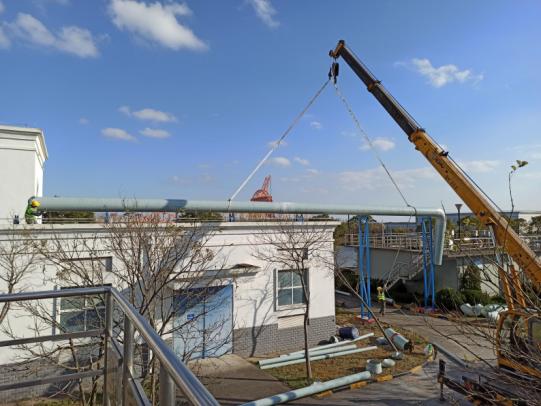 启东污水站臭气处理项目正在实施